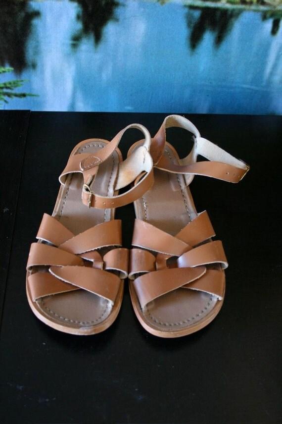 Coney Island, Brown Salt water sandals size 8