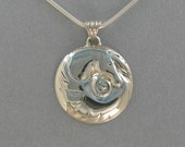 Shell Horse Pendant in Sterling Silver