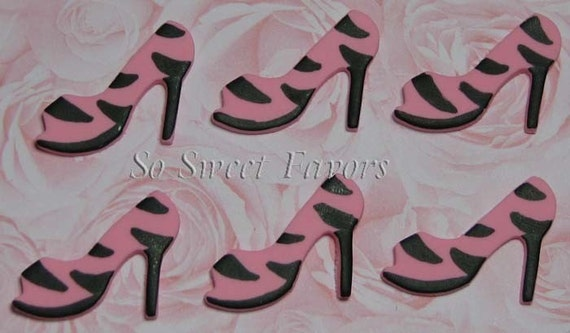 Pink Zebra Print Wide Shoes