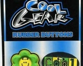 COOL GEAR RUBBER BUTTONS A FLOWER AND COOL