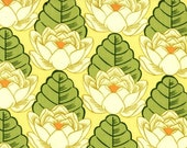 CLEARANCE SALE Amy Butler - Lotus Pond in Yellow from the Lotus Collection 1 yard