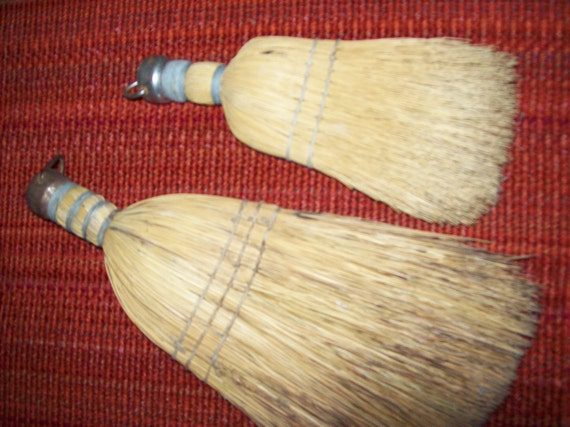2 Vintage Whisk Brooms Start a Collection