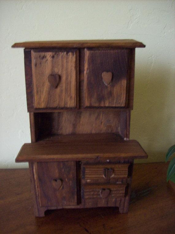 Handmade Doll House Furniture  Kitchen Cupboard