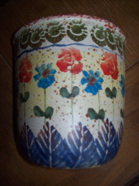 Beautiful Wall Pocket Vase Made in Italy Hand Painted Home Decor