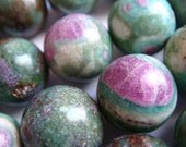 17. Ruby in Fuchsite 14mm Round Bead 16 Inches Strand 30pcs Stone Bead