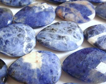 18. Sodalite 16x25mm Faceted Teardrop 16 Inches Strand 16pcs Stone Bead