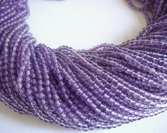 12. Amethyst 2mm Round Bead 16 Inches Strand 188pcs Stones Beads