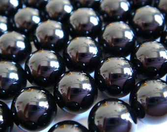 4. Black Onyx 8mm Round Bead 16 Inches Strand 50pcs Stones Beads