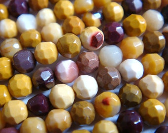 20. Mookaite 3mm Faceted Round 16 Inches Strand 125pcs Stones Beads