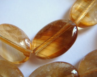 13. Whiskey Citrine 10x14mm Oval Shape 16 Inches Strand 28 Pcs Stones Beads