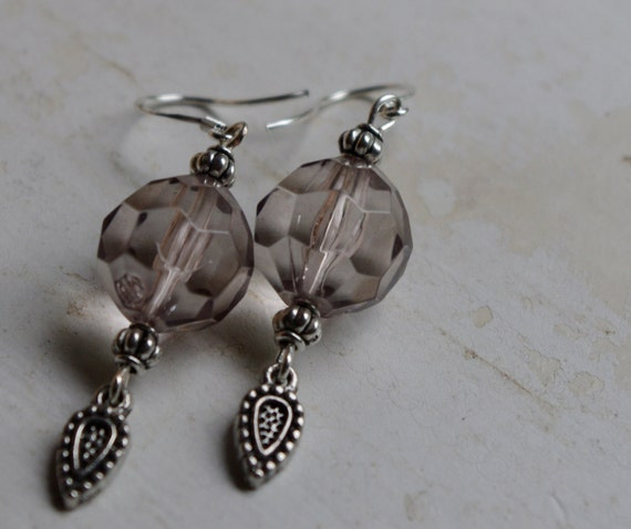 Upcycled Sterling Gray Dangle Earrings as seen on TV