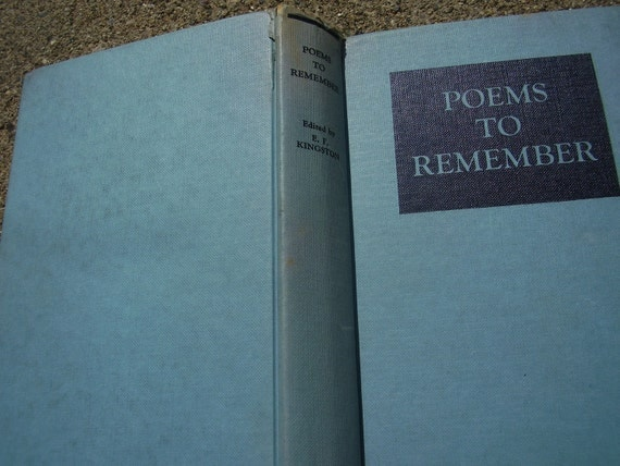 Vintage Book Poems To Remember