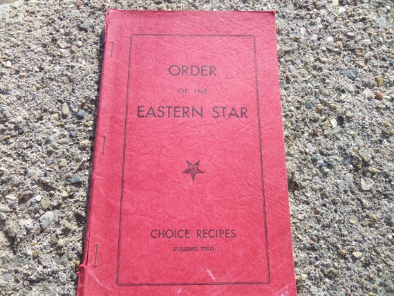 Michigan Order Of The Eastern Star Cookbook
