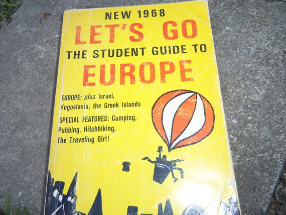 New 1968 Let's Go The Student Guide To Europe