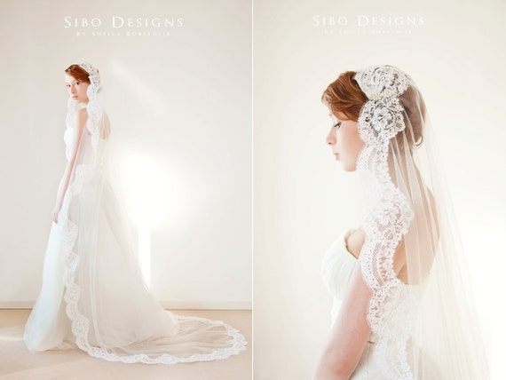 "Whispered Wish - Large 90"" Veil - Made to Order"