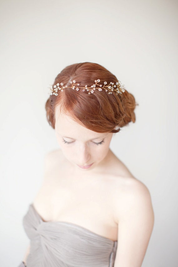 Crystal Bridal Hair Vine, Wired Crystal Wedding Headband, Crystal Bridal Headband - Untamed