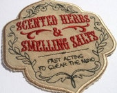 Apothecary Herbs Smelling Salts DIY Embroidered Patch