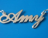 """Large Name Necklace 1"""" Tall, Statement Name Necklace, Personalized with your name"""