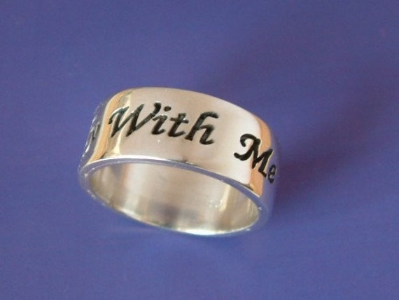 Engrave this ring with a sentence, silver ring, silver name ring