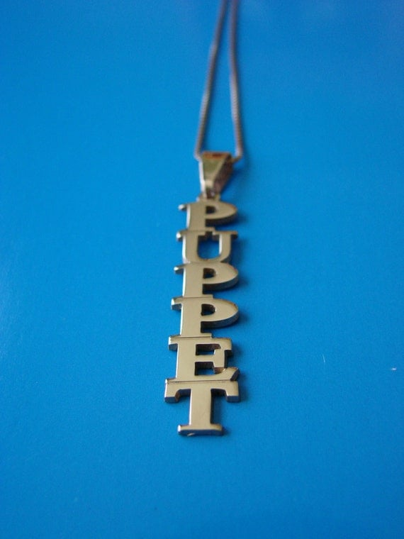 Vertical Name Necklace 14k Gold Plated, up to 10 letters, chain included, ideal gift