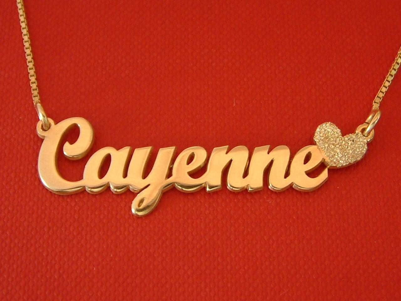 gold sparkle name necklace 14k gold plated thick