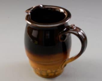 Pottery pitcher golden brown ebony brown  Porcelain by Mark Hudak