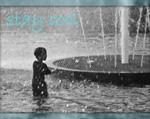 STAY COOL BLANK CARD PHOTOGRAPH GREETING