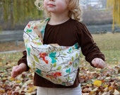 Baby Doll Sling Toy Pouch Sling Doll Carrier - Whoo Forest - FAST SHIPPING
