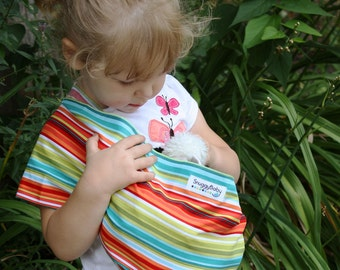 Baby Doll Sling Toy Pouch Sling Doll Carrier - Caribbean Stripe - FAST SHIPPING