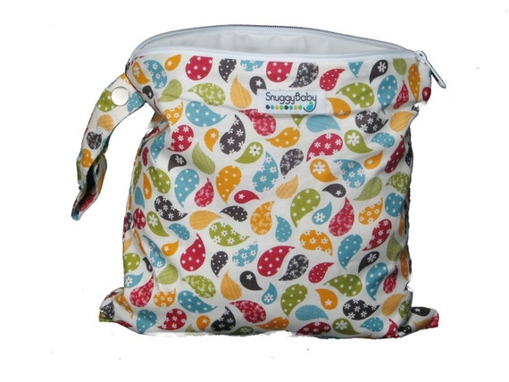 Wet Bag with Zipper and Snap Open Handle - Rebecca - FAST SHIPPING