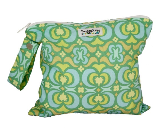 Wet Bag with Zipper and Waterproof Lining - Stained Glass - FAST SHIPPING