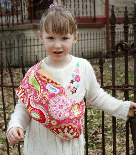 Doll Sling Baby Doll Carrier Kid Toy Pouch Sling -  Pink Paisley - FAST SHIPPING