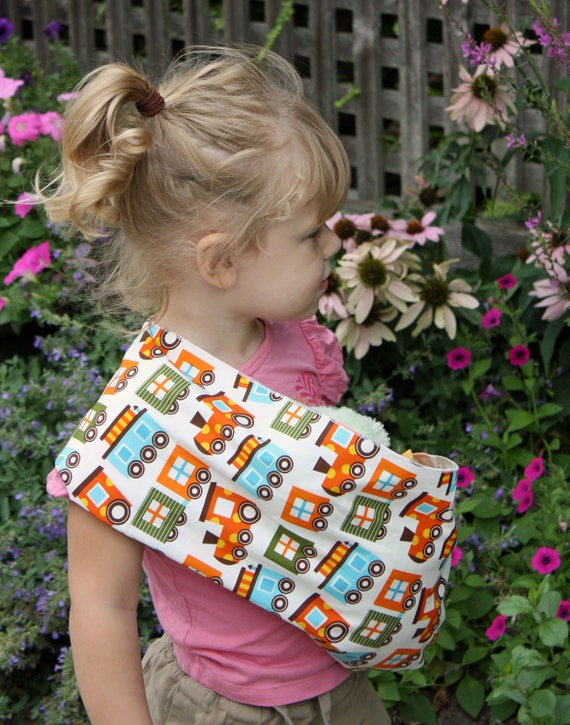 Baby Doll Sling Toy Pouch Style Doll Carrier - Choo Choo - FAST SHIPPING