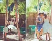 Wedding Swing  Fabric Strips - Decor for Garden Wedding - Kids Swing Photo Studio  -  SEW FUN QUILTS