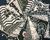 Black and White Quilt Fabric Squares Quilt Charm Squares - by SEW FUN QUILTS Time Saver Quilt Kit -