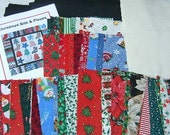 Christmas Quilt Kit  -  Pre-Cut Quilt Kit - Applique Stocking, Bell, Star, Christmas Tree