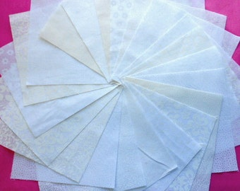 Quilt Fabric Squares White Quilt Charm Squares  -  Sew Fun Quilts  Quilt Kit