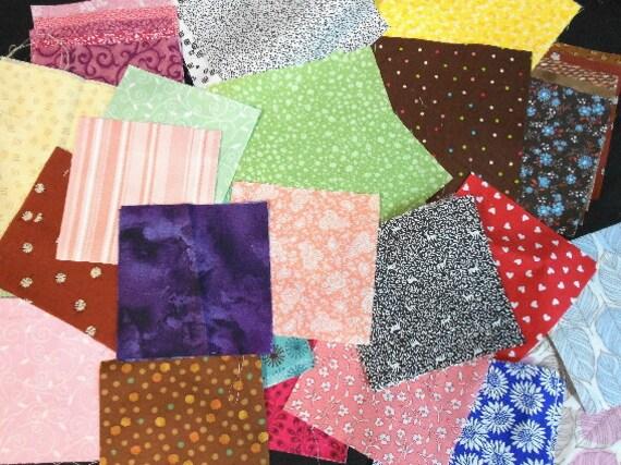 Scraps Grab Bag Quilt Squares  - Destash Quilt Charm Squares - SEW FUN QUILTS Time Saver Kit