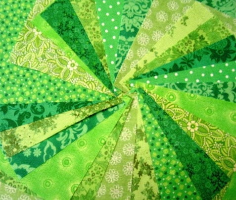 Lime Green Fabric Squares Quilt Charm Squares By Sew Fun