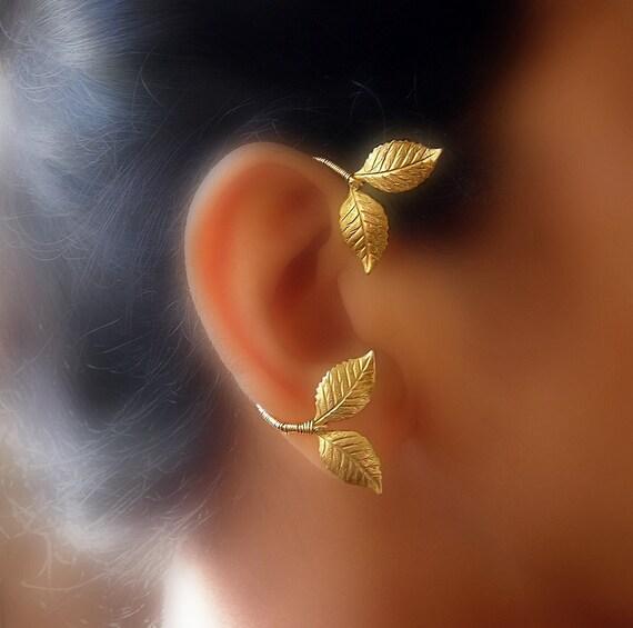 Greek Goddess Leaf Ear Wrap Vine