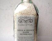 Organic Milk, Honey, and Oats Bath Minerals 18.5 oz