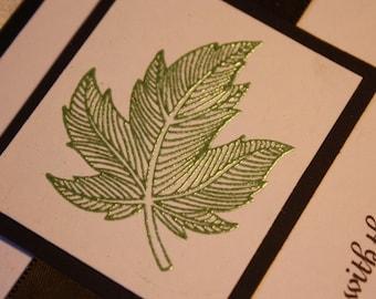 Green Maple Leaf Fall Wedding Invitation