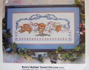 Bunny Cross Stitch Kit  Babies Sweet Dreams Golden Bee