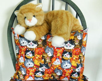 Cat Pillow Cover  Cat Lover Pillow Cover  Animal Pillow Cover