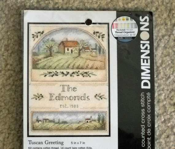 Tuscan Greeting Counted Cross Stitch Kit Dimensions  Housewarming  Gift Kit