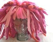 Bright Pink Wool Faux Dreadlock Wig