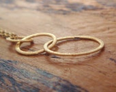 Three Ring Gold Necklace