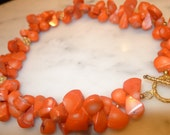 Chunky Orange Coral Necklace