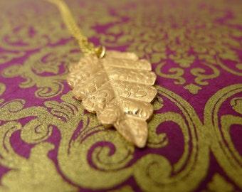 Rose Gold Leaf Necklace