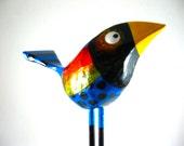 Mixed Media XL Fat Bird No. 1